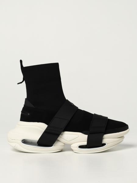 Sneakers B-Bold Balmain in maglia e camoscio