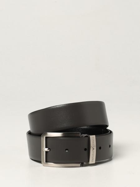 Cintura reversibile Emporio Armani in pelle saffiano
