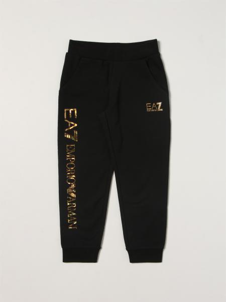 Pantalone jogging EA7 in misto cotone con maxi logo