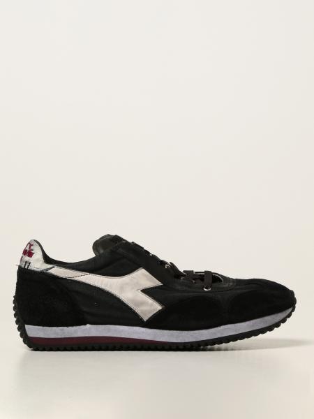 Diadora Heritage men: Equipe H Diadora Heritage sneakers in suede and worn canvas