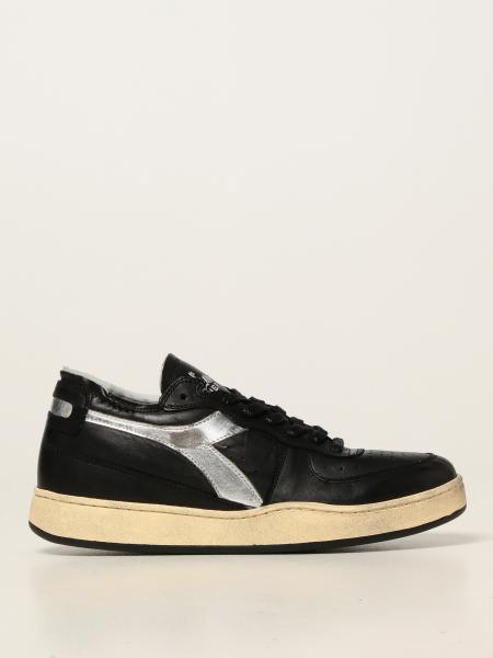 Diadora Heritage men: Diadora Heritage sneakers in leather with laminated logo