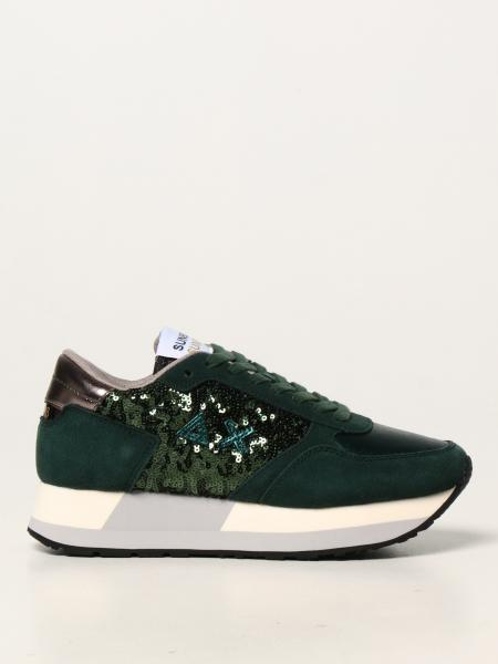 Sun 68 trainers in suede with sequins