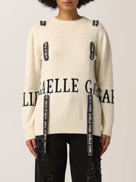 Maglione Gaëlle Paris in misto lana con intarsi e nastri