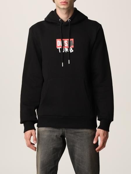Diesel men: Diesel sweatshirt in cotton with logo
