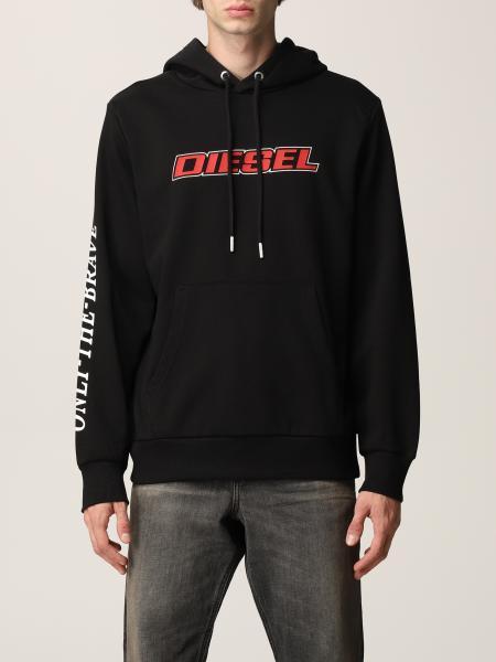 Felpa Diesel in cotone con logo