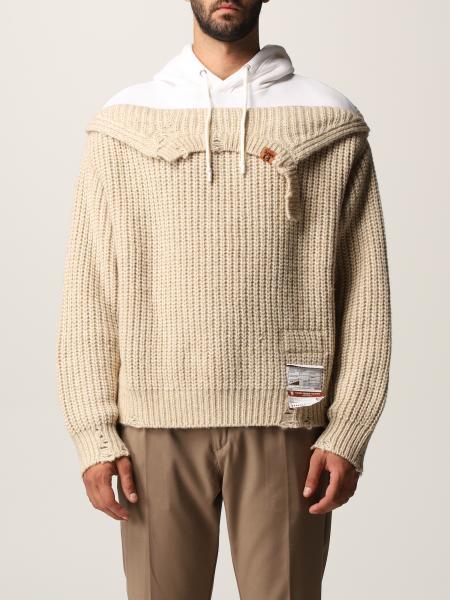 Maison Mihara Yasuhiro men: Maison Mihara Yasuhiro jumper in cotton and wool blend with ripped