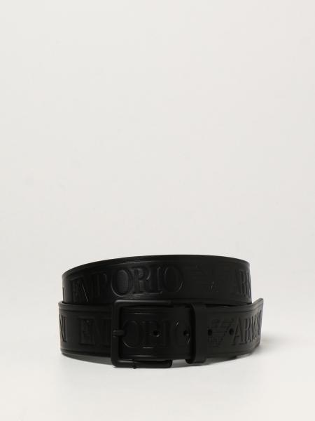Cintura Emporio Armani in pelle con logo