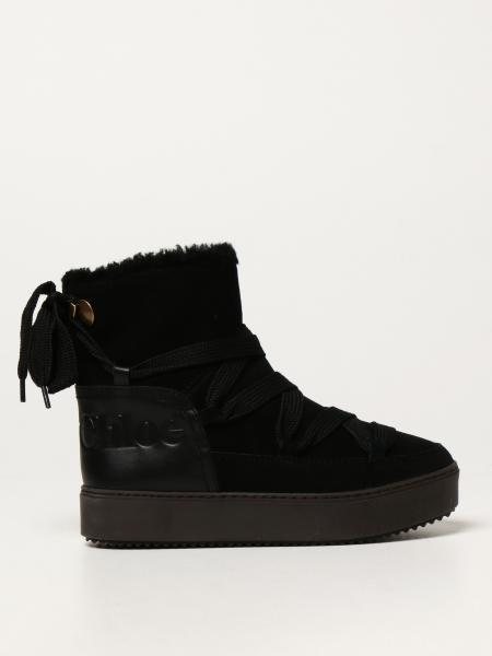 See By Chloé ankle boots in split leather