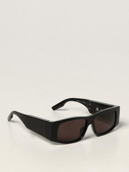 Balenciaga: Balenciaga sunglasses in acetate with iridescent logo