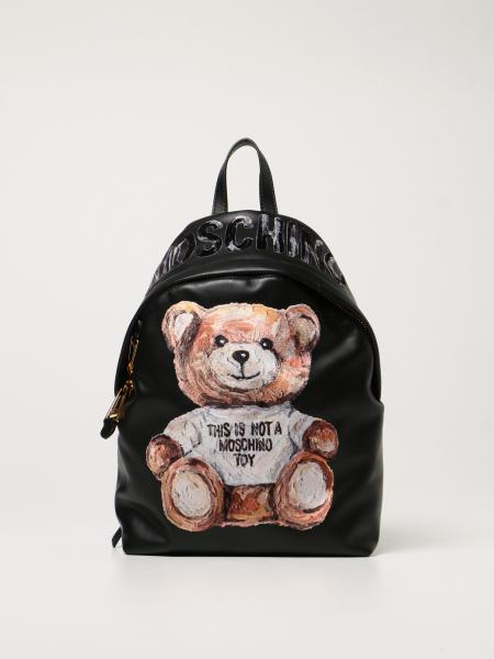 Moschino Couture leather backpack with Teddy