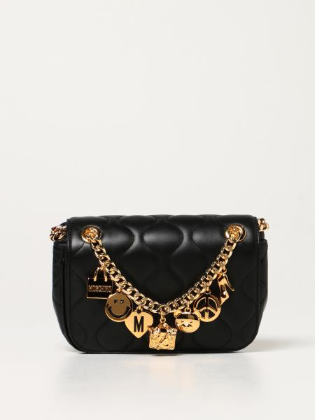 Smiley Moschino Couture bag in quilted leather