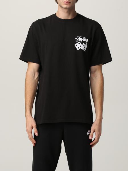 T-shirt Stussy in cotone con logo posteriore