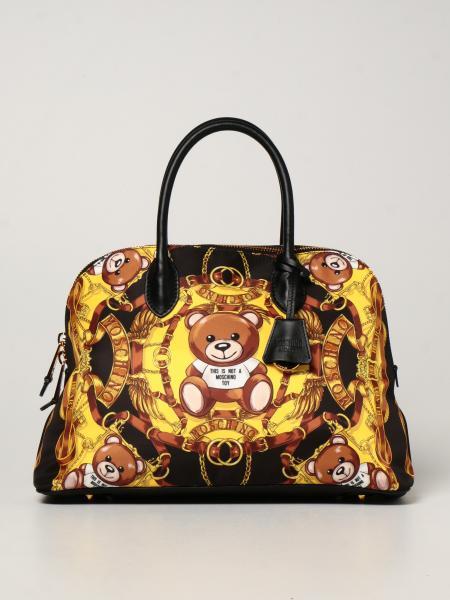Moschino Couture nylon handbag with Teddy