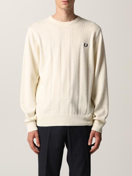 Cable knit crew neck jumper, maglia girocollo con motivo treccia