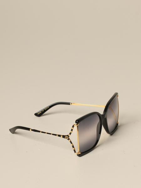 Gucci acetate and metal glasses