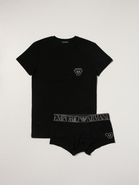 Set t-shirt + parigamba Emporio Armani con logo