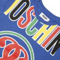 T-shirt MOSCHINO KID Bleu royal - 4 | MOSCHINO HZM018 E048L - Giglio boutique en ligne