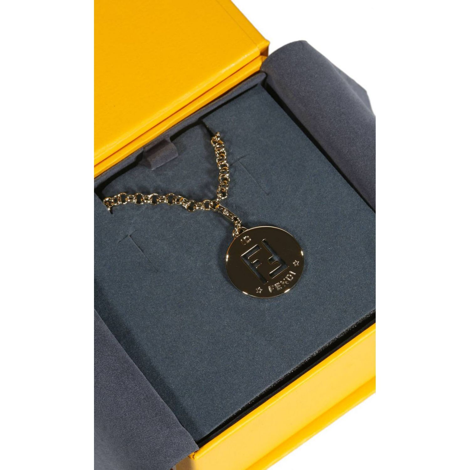 Jewel Fendi: LONG NECKLACE WITH FENDI CHARMING