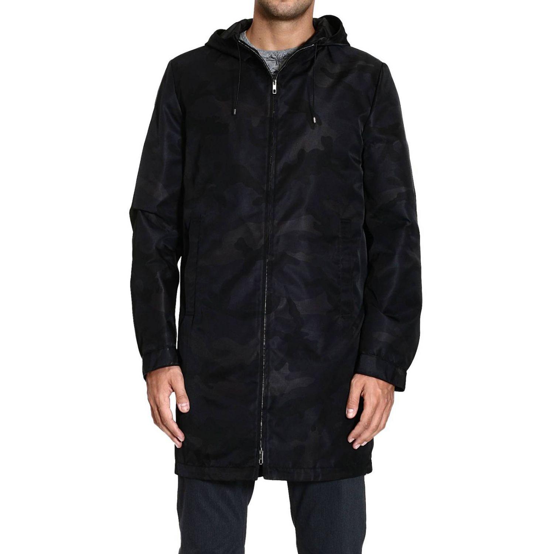 Coat Valentino: TRENCH NYLON CAMOUFLAGE black 1
