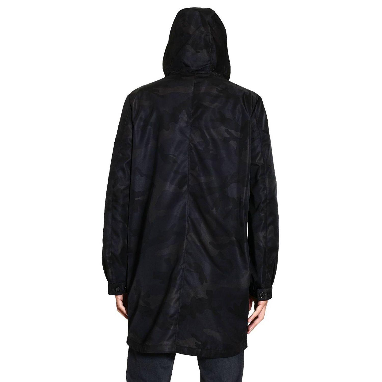 Coat Valentino: TRENCH NYLON CAMOUFLAGE black 3