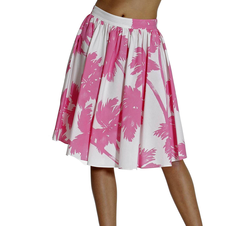 Skirt Cheap & Chic: PRINT PALMS white 3
