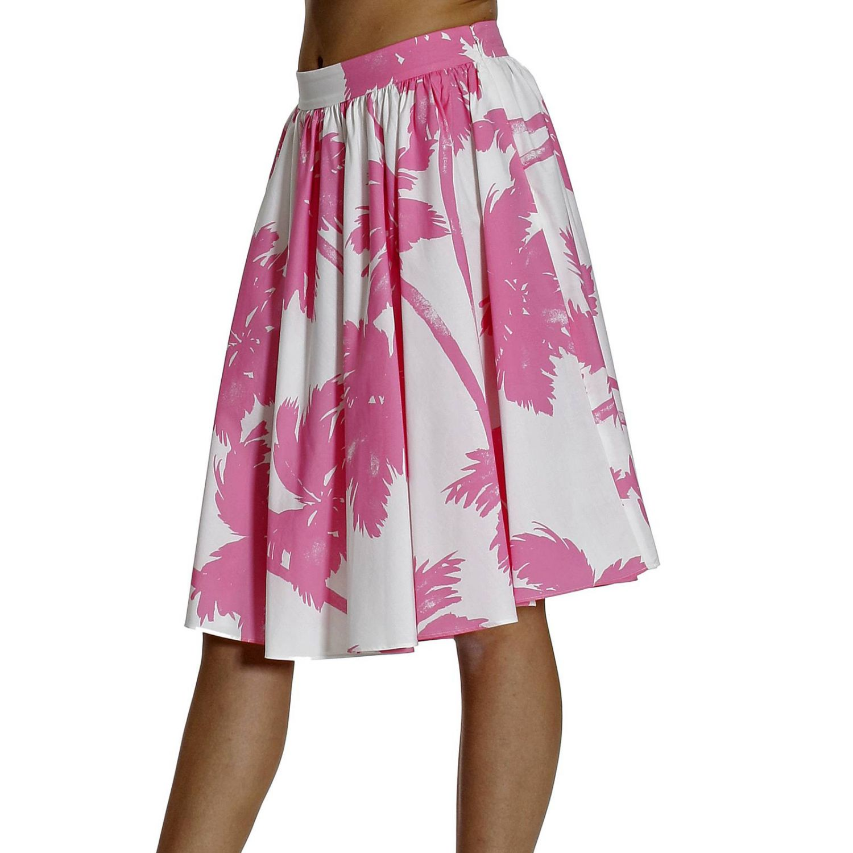 Skirt Cheap & Chic: PRINT PALMS white 2