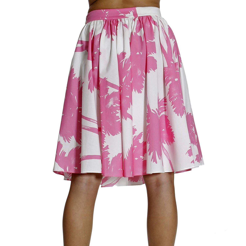 Skirt Cheap & Chic: PRINT PALMS white 1