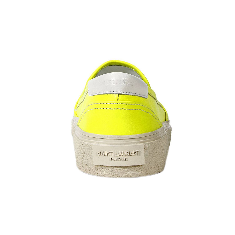 Scarpe basse Saint Laurent: TENNIS PANTOFOLA PELLE FLUO giallo 3