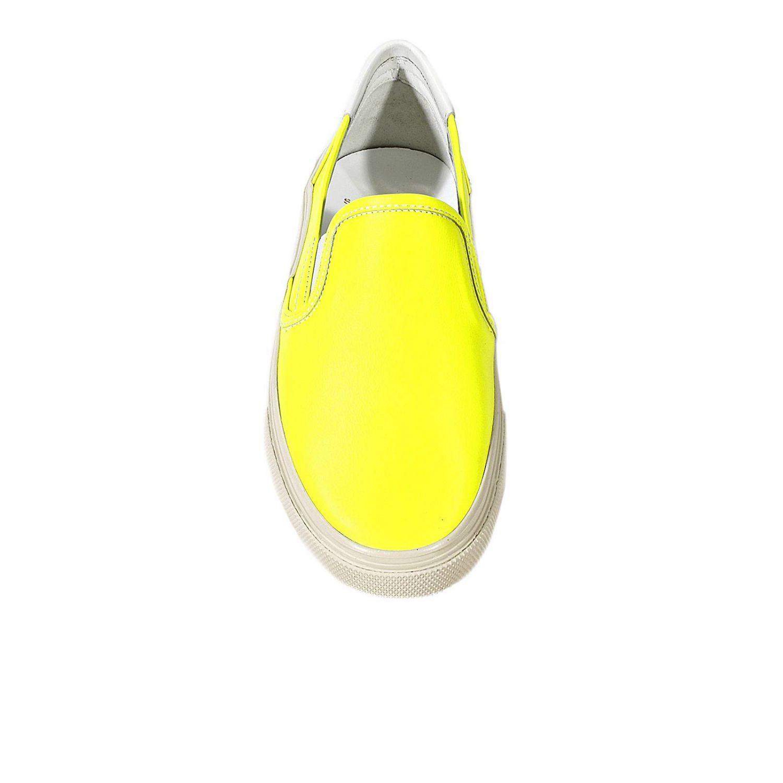 Scarpe basse Saint Laurent: TENNIS PANTOFOLA PELLE FLUO giallo 1