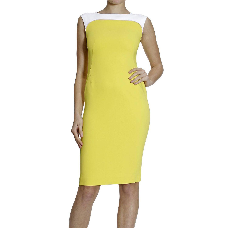 Платье Fay: SLEEVELESS CADY BICOLOR желтый 3