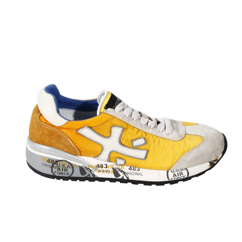Sneakers Premiata: SNEAKERS CAM+TELA BICOLOR F.RIALZATO giallo 3