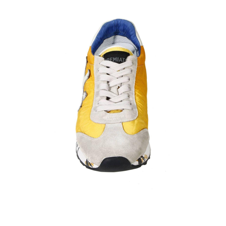 Sneakers Premiata: SNEAKERS CAM+TELA BICOLOR F.RIALZATO giallo 2