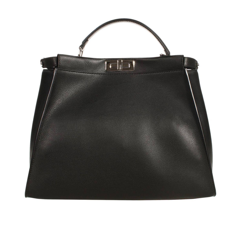 Shoulder bag Fendi: PEEKABOO LEATHER PRINT COCCO DETAILS black 2