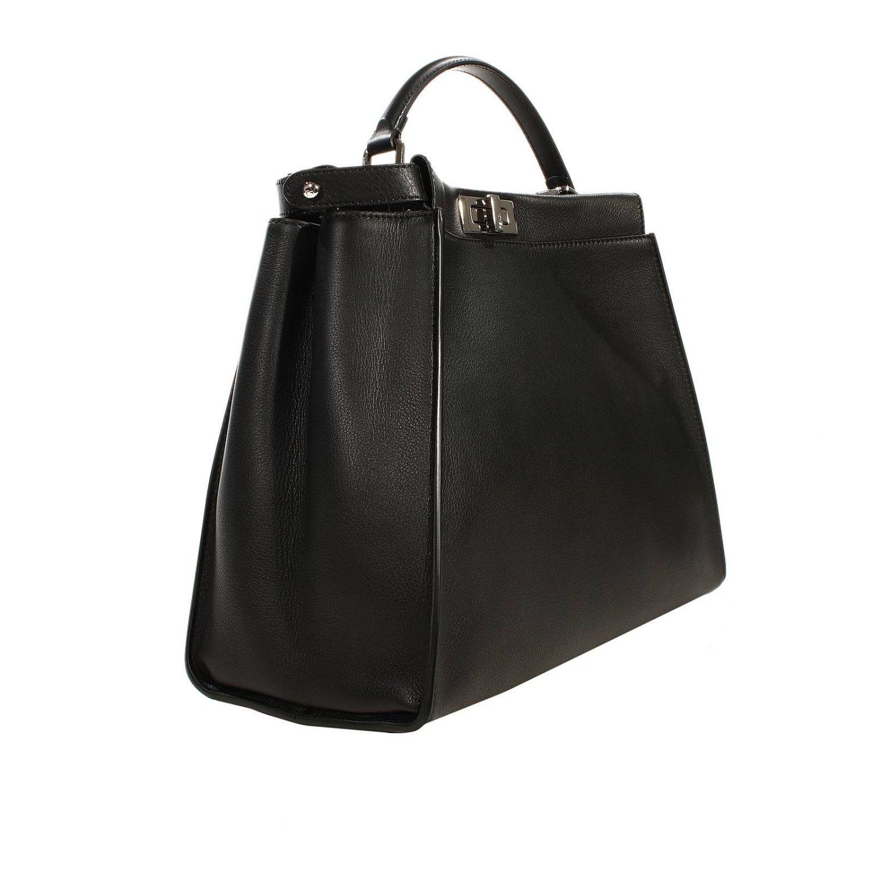 Shoulder bag Fendi: PEEKABOO LEATHER PRINT COCCO DETAILS black 1