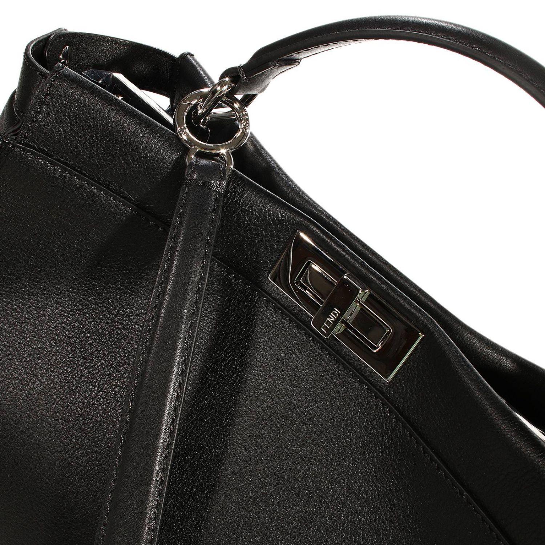 Shoulder bag Fendi: PEEKABOO LEATHER PRINT COCCO DETAILS black 3