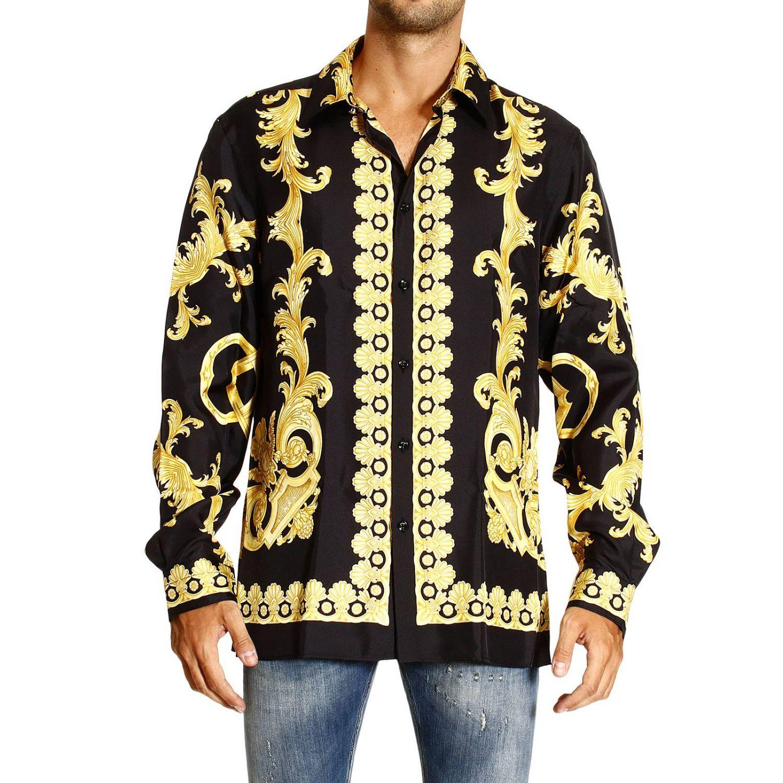 Camicia Versace: REGULAR STAMPA BAROCCO VINTAGE PIAZZATA oro 1