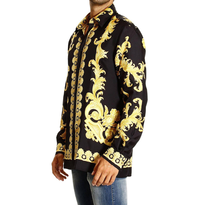 Camicia Versace: REGULAR STAMPA BAROCCO VINTAGE PIAZZATA oro 2