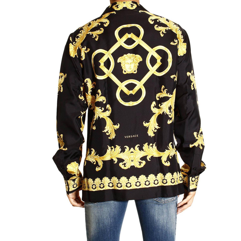 Camicia Versace: REGULAR STAMPA BAROCCO VINTAGE PIAZZATA oro 3