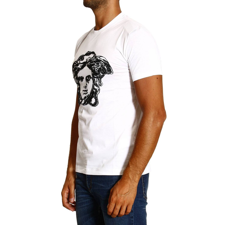 T-shirt Versace: MEZZA MANICA GIROCOLLO RICAMO MEDUSA bianco 2