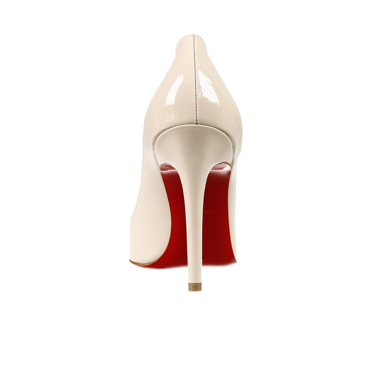 chaussure louboutin beige femme