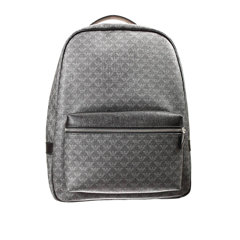 bag backpack ecoleather logo all over black 1