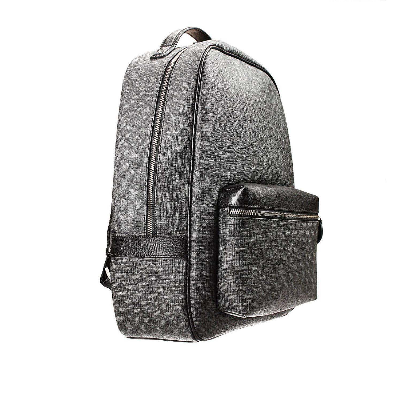bag backpack ecoleather logo all over black 2