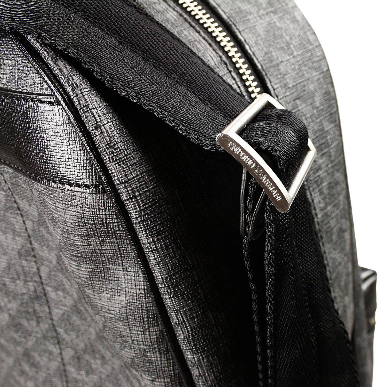 bag backpack ecoleather logo all over black 3