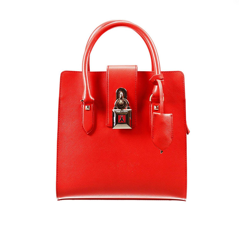 Shoulder bag Patrizia Pepe: W.O.M.A.N. bag 2 handles saffiano medium with lock red 1
