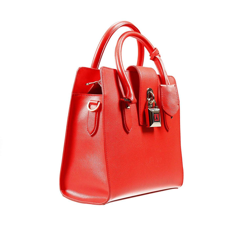 Shoulder bag Patrizia Pepe: W.O.M.A.N. bag 2 handles saffiano medium with lock red 2