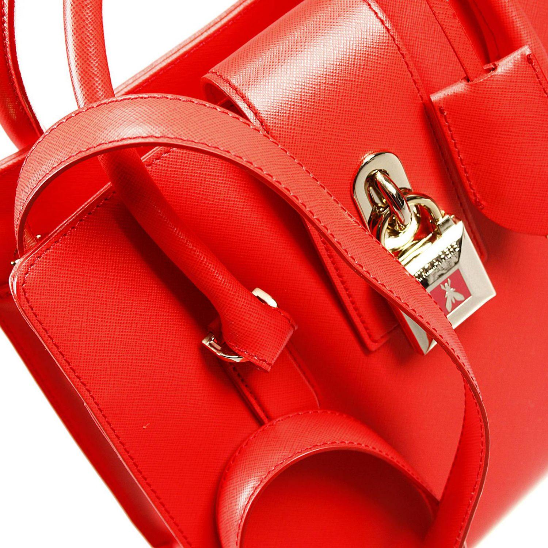 Shoulder bag Patrizia Pepe: W.O.M.A.N. bag 2 handles saffiano medium with lock red 3