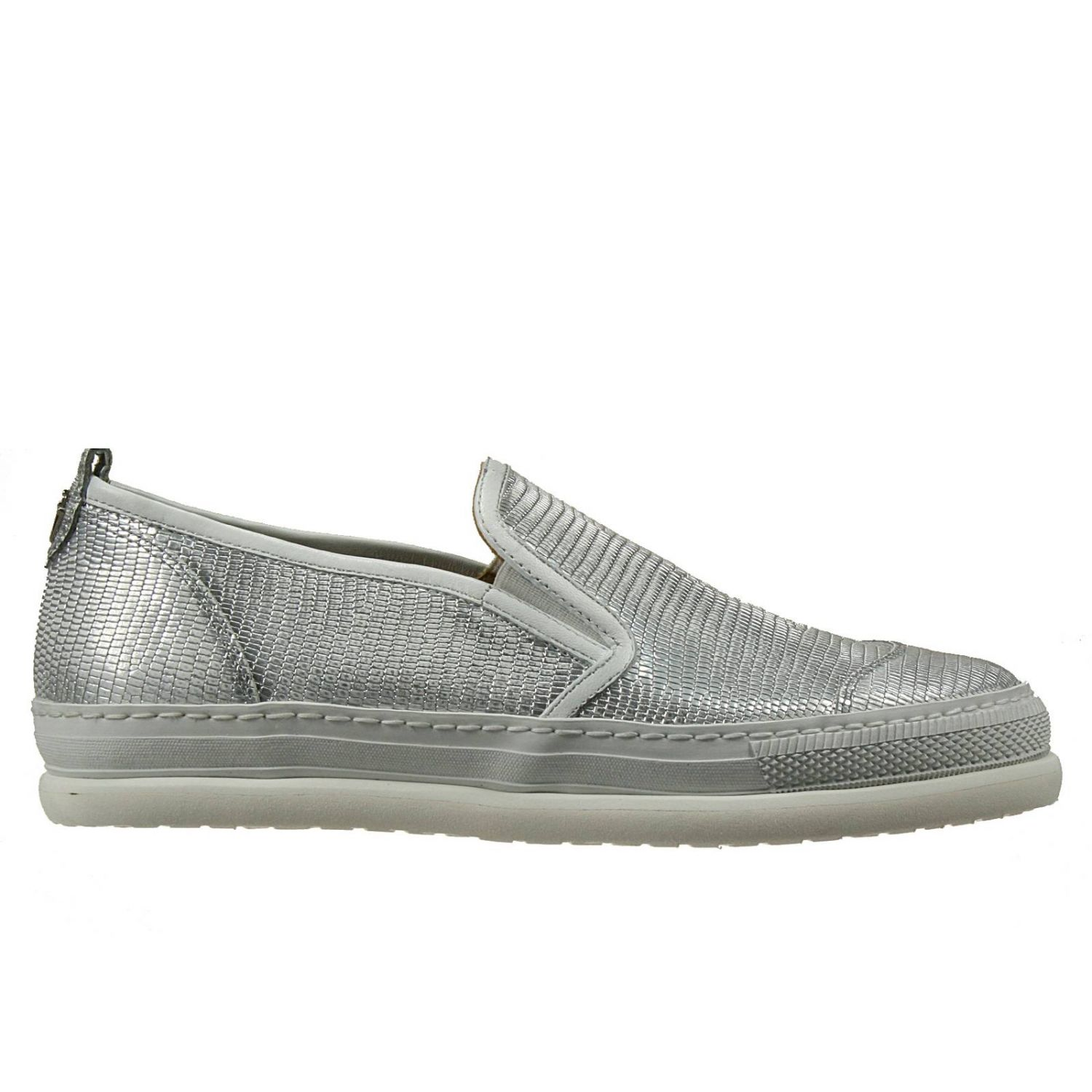 Sneakers Shoes Slip On Leather Printed Lizard 591197