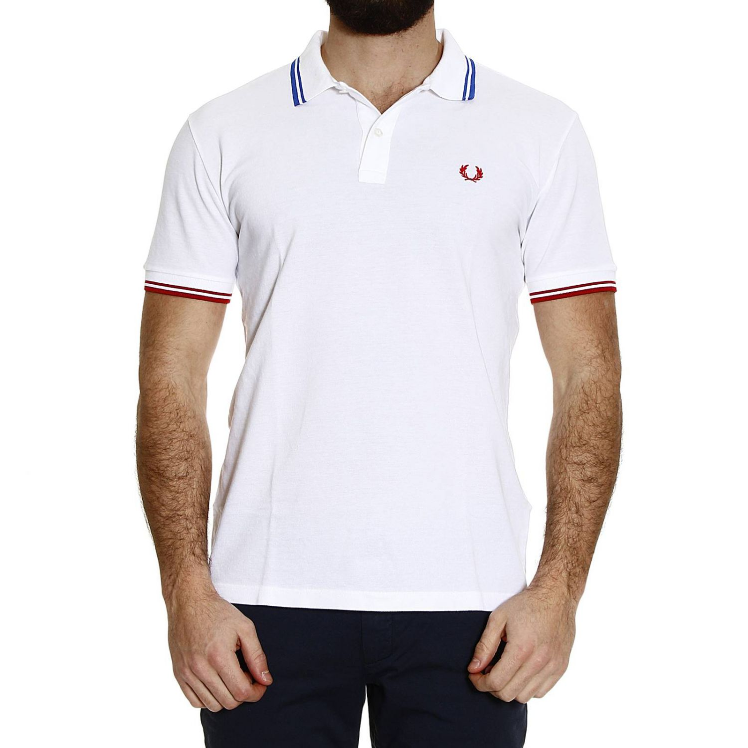T-Shirt Fred Perry Men white 1