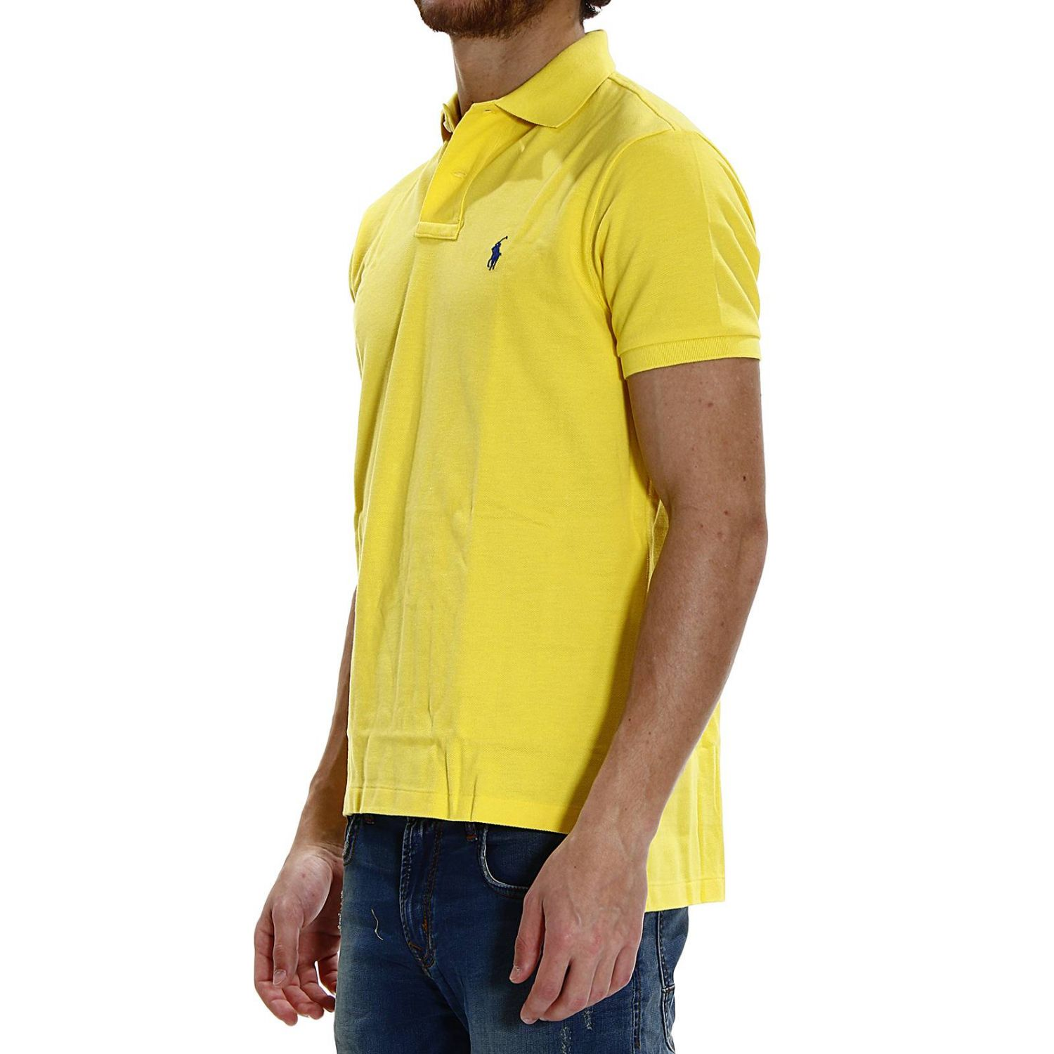 t-shirt polo half sleeve smash custom fit yellow 2