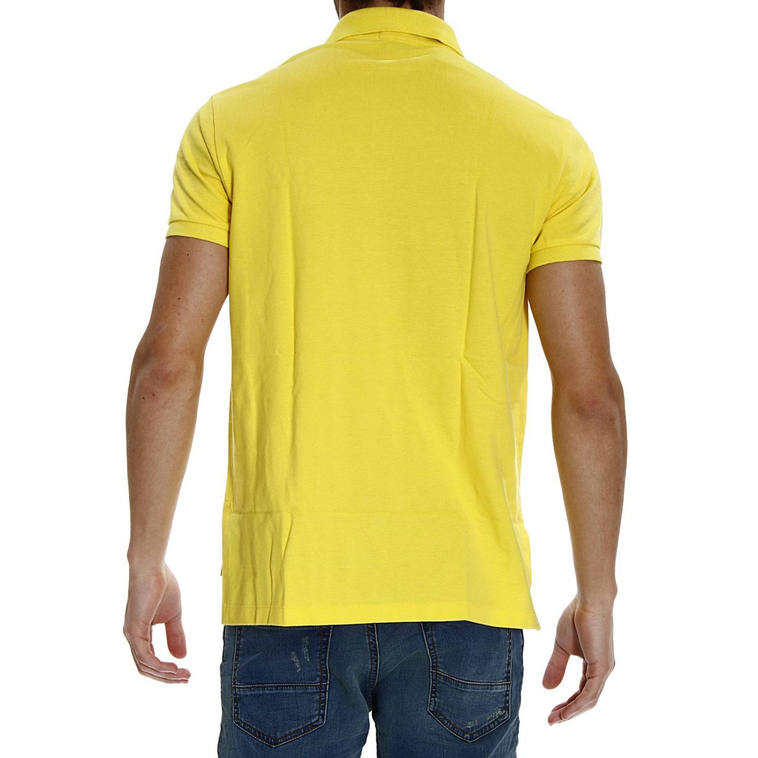 t-shirt polo half sleeve smash custom fit yellow 3